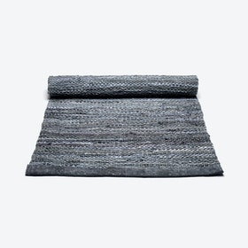 Leather Rug in Dark Grey