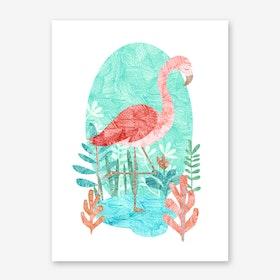 Flamingo Feelings Art Print
