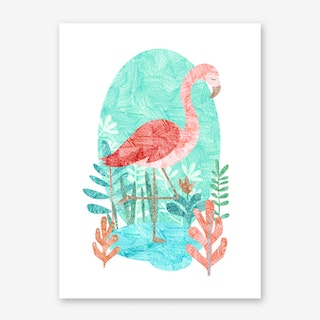 Flamingo Feelings Art Print