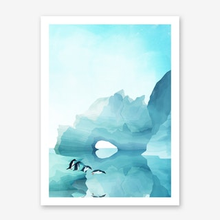 Penguins by Day Art Print