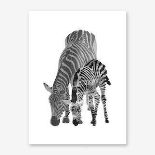 Striped Love II Art Print