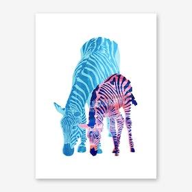 Striped Love III Art Print