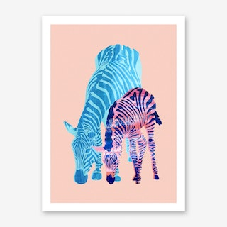 Striped Love Art Print