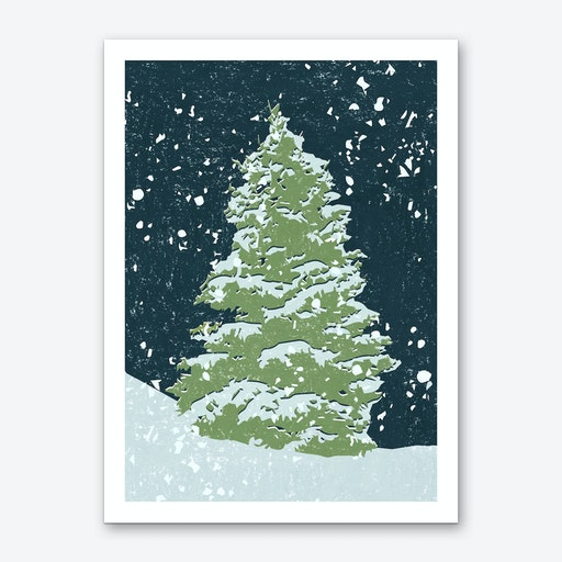 Tree by Night Art Print