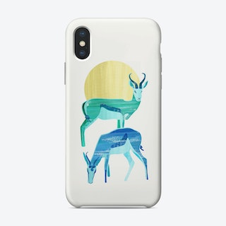 Antilopes In The Sun iPhone Case