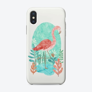 Flamingo Feelings iPhone Case