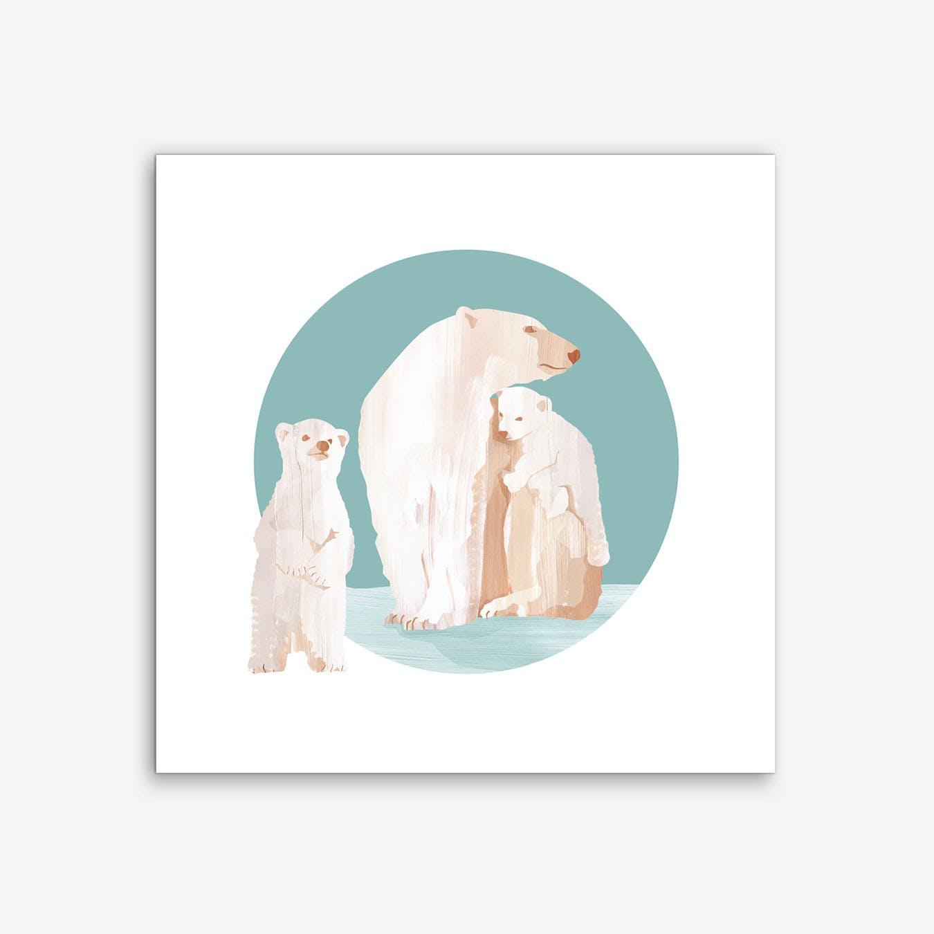 Snow Cuddles Art Print