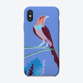 Purple Bird iPhone Case