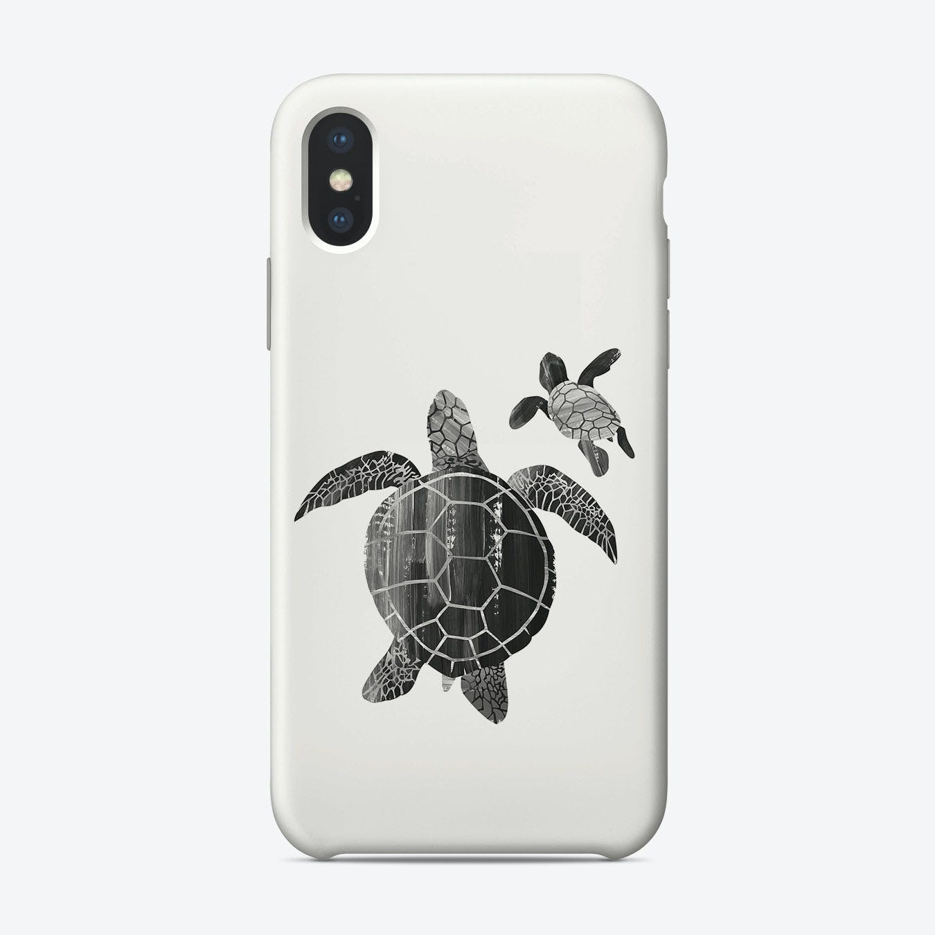 Shielded Love (black and white) iPhone Case