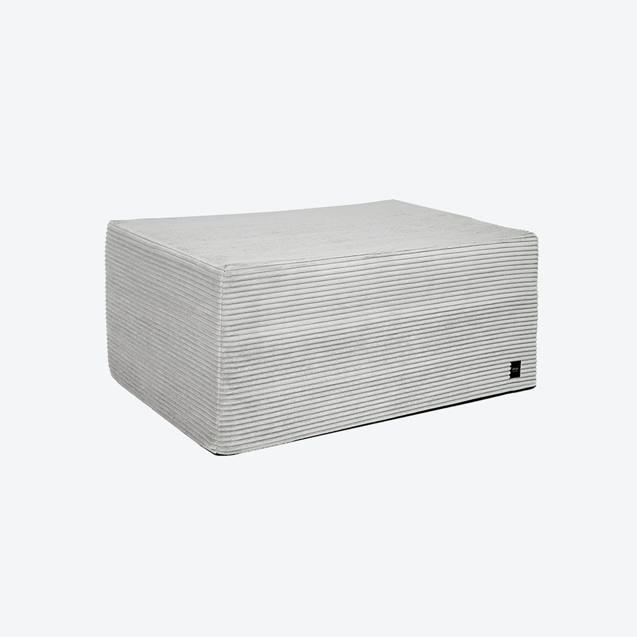 Amazing Bloc Ottoman In Platinum Corduroy Ocoug Best Dining Table And Chair Ideas Images Ocougorg