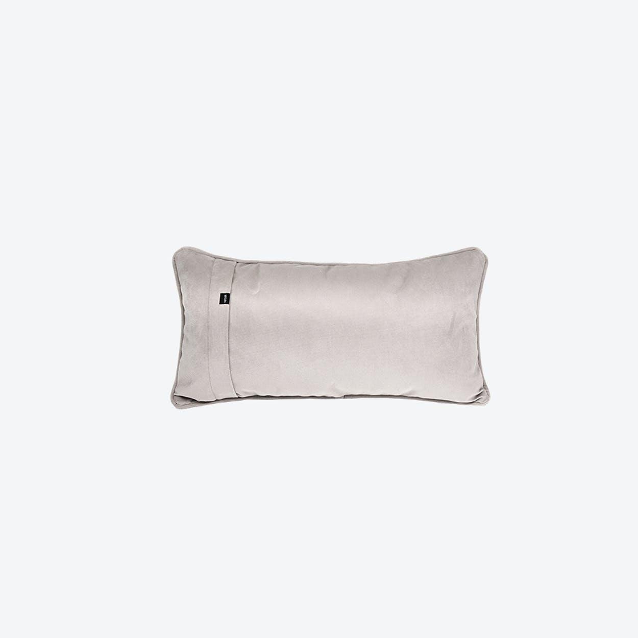 Pillow in Light Grey Velvet