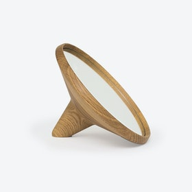 Satellite Hand Mirror Oak