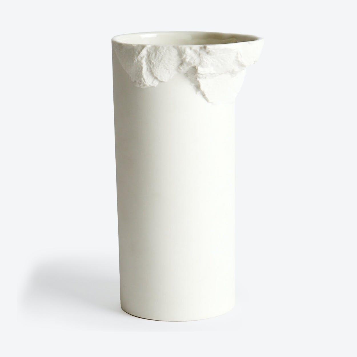 Møns Klint Vase 20 in White Porcelain