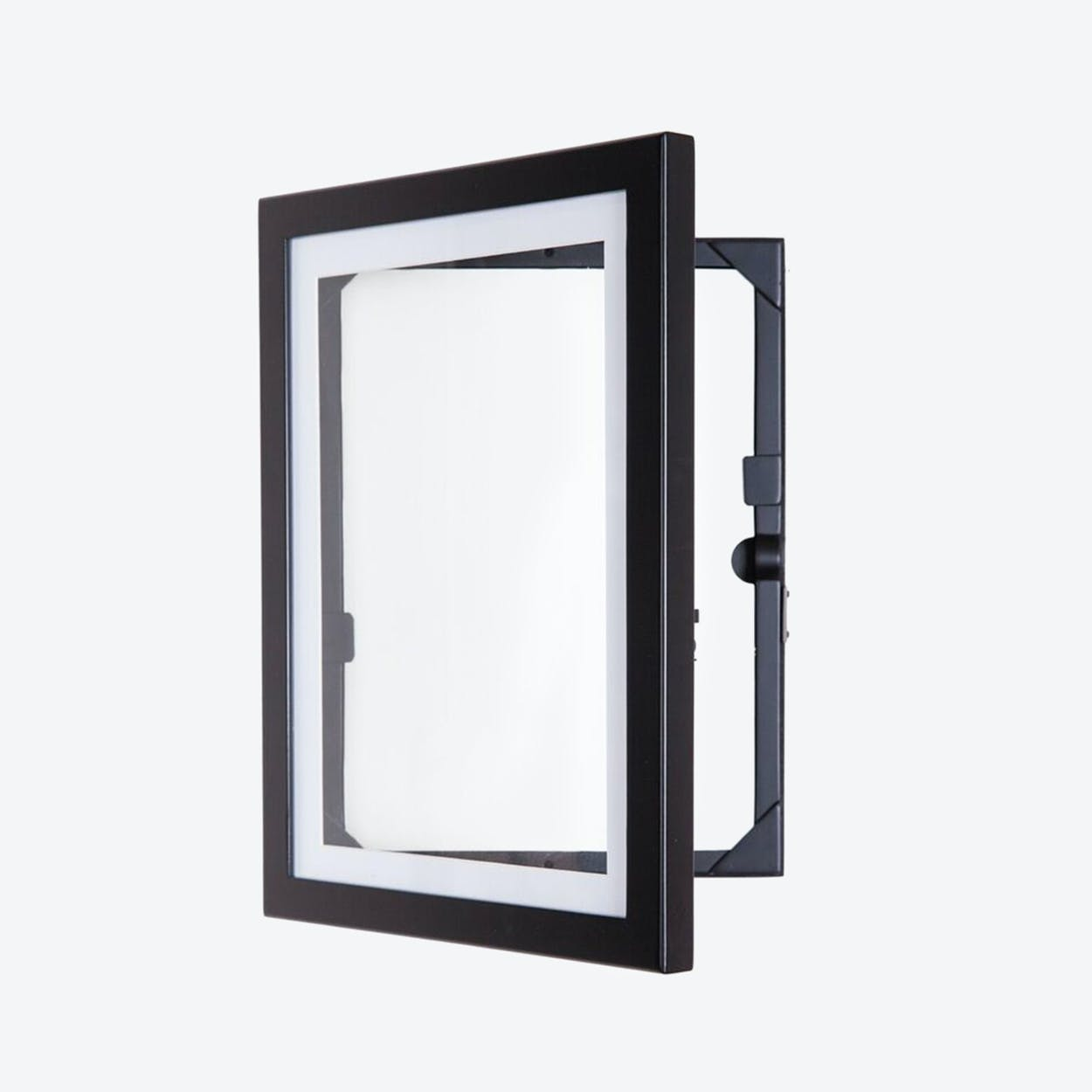 Art Cabinet and Frame for 50 Artworks - A4 in Black