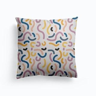 Multiple Rainbow Canvas Cushion
