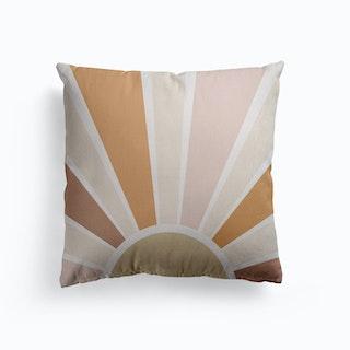 Retro Boho Sun Canvas Cushion