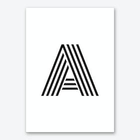 Black Letter A Art Print