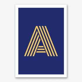 Yellow Letter A Art Print