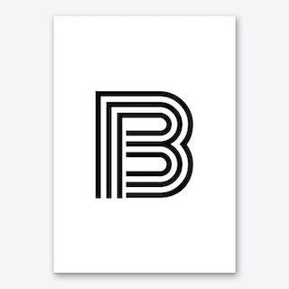 Black Letter B Art Print