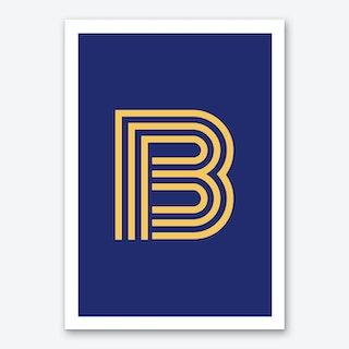 Yellow Letter B Art Print