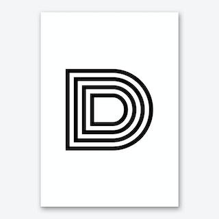 Black Letter D Art Print