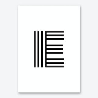 Black Letter E Art Print