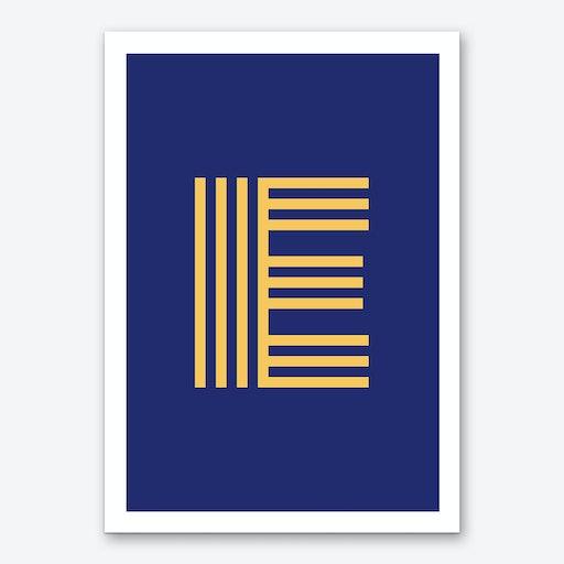 Yellow Letter E