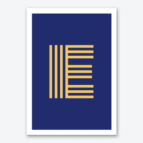 Yellow Letter E Art Print