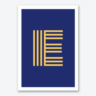 Yellow Letter E Art Print