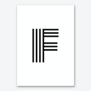 Black Letter F Art Print