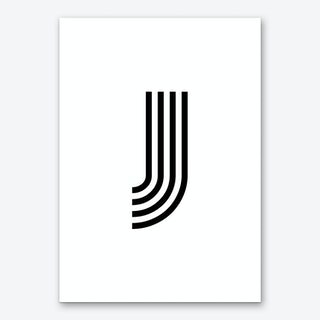 Black Letter J Art Print