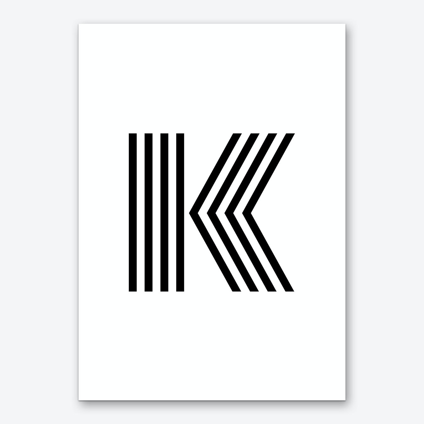 Things With Letter K.Black Letter K
