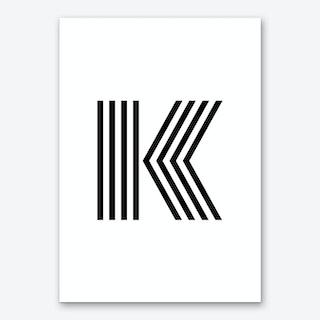 Black Letter K Art Print