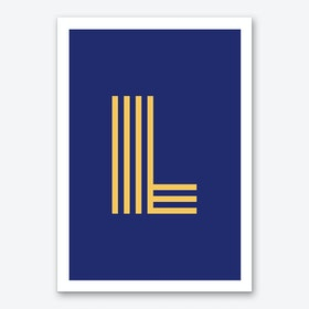 Yellow Letter L Art Print