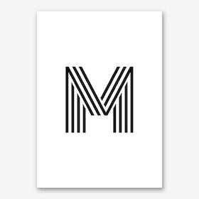 Black Letter M Art Print