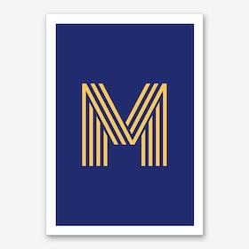 Yellow Letter M Art Print