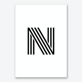 Black Letter N Art Print