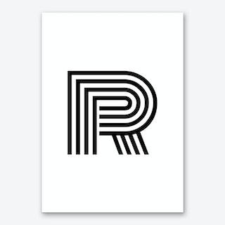 Black Letter R Art Print