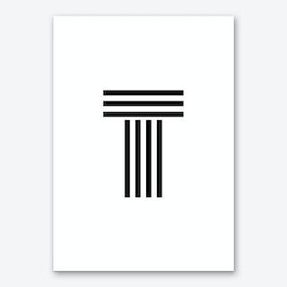 Black Letter T Art Print