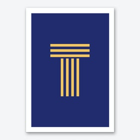 Yellow Letter T Art Print