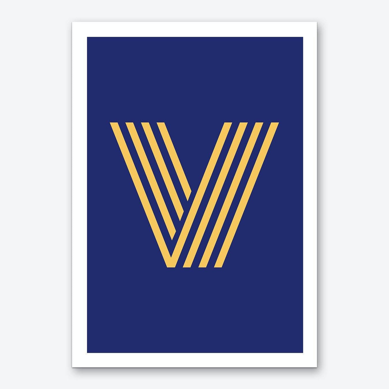 Yellow Letter V