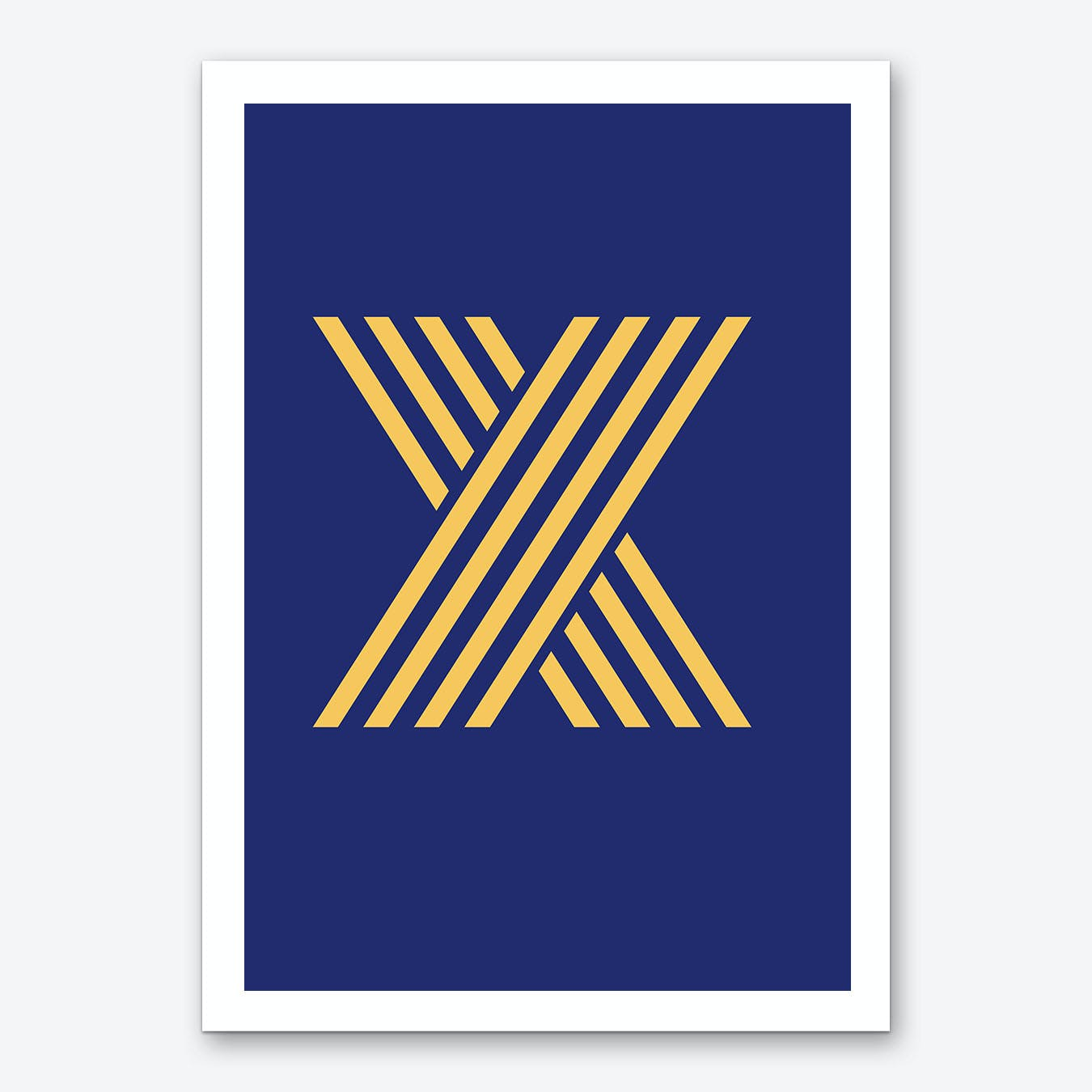 Yellow Letter X