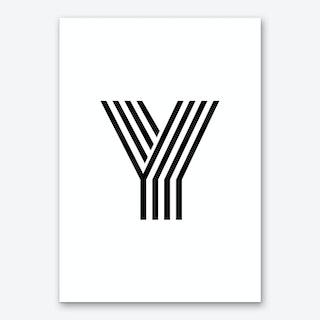 Black Letter Y Art Print