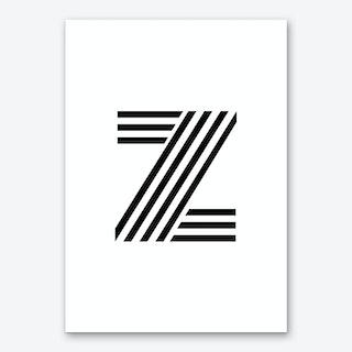 Black Letter Z Art Print