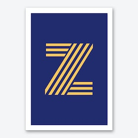 Yellow Letter Z Art Print