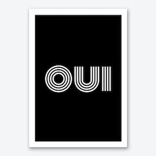 Oui Multiline Ii Art Print