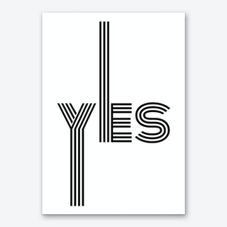 Yes Multiline I Art Print
