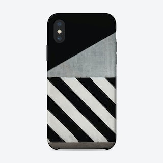 Abstract Wall Black and White iPhone Case