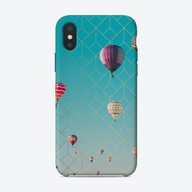 Air Balloons Golden Pattern iPhone Case