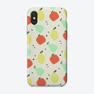 Fruit Pattern Illustration iPhone Case